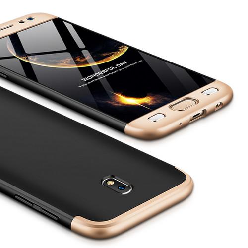 Θήκη GKK Full body Protection 360° από σκληρό πλαστικό για Samsung Galaxy J5 (2017) μαύρο / χρυσό