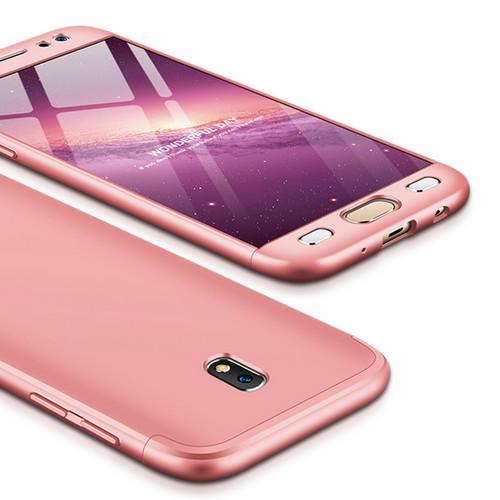 Θήκη GKK Full body Protection 360° από σκληρό πλαστικό για Samsung Galaxy J5 (2017) ροζ χρυσό