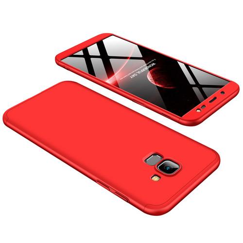 Θήκη GKK Full body Protection 360° από σκληρό πλαστικό για Samsung Galaxy J6 (2018) κόκκινο