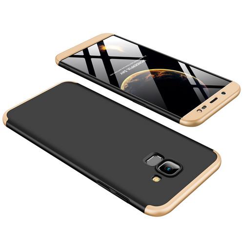 Θήκη GKK Full body Protection 360° από σκληρό πλαστικό για Samsung Galaxy J6 (2018) μαύρο / χρυσό