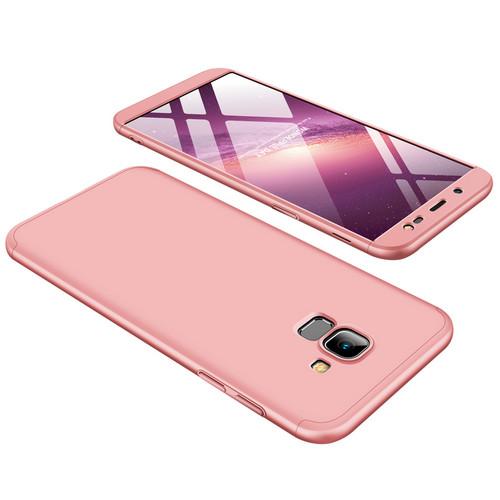 Θήκη GKK Full body Protection 360° από σκληρό πλαστικό για Samsung Galaxy J6 (2018) ροζ χρυσό