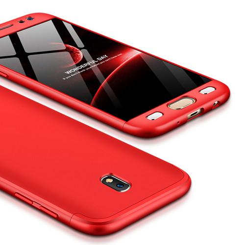 Θήκη GKK Full body Protection 360° από σκληρό πλαστικό για Samsung Galaxy J7 (2017) κόκκινο