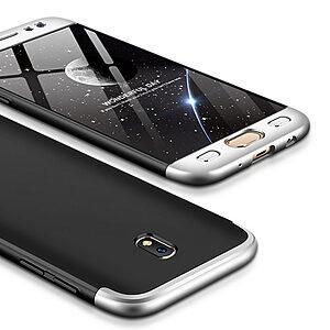 Θήκη GKK Full body Protection 360° από σκληρό πλαστικό για Samsung Galaxy J7 (2017) μαύρο / ασημί