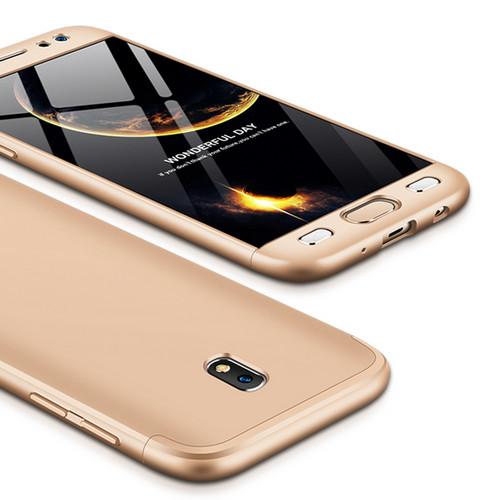 Θήκη GKK Full body Protection 360° από σκληρό πλαστικό για Samsung Galaxy J7 (2017) χρυσό