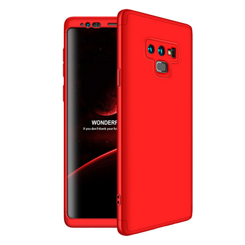 Θήκη GKK Full body Protection 360° από σκληρό πλαστικό για Samsung Galaxy Note 9 κόκκινο