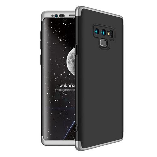 Θήκη GKK Full body Protection 360° από σκληρό πλαστικό για Samsung Galaxy Note 9 μαύρο / ασημί