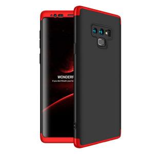 Θήκη GKK Full body Protection 360° από σκληρό πλαστικό για Samsung Galaxy Note 9 μαύρο / κόκκινο