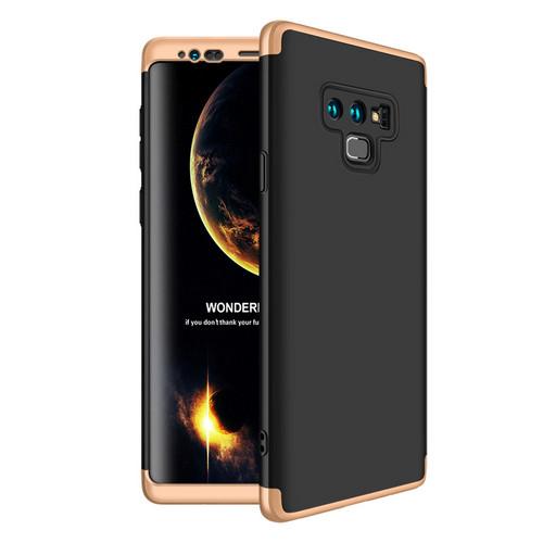Θήκη GKK Full body Protection 360° από σκληρό πλαστικό για Samsung Galaxy Note 9 μαύρο / χρυσό