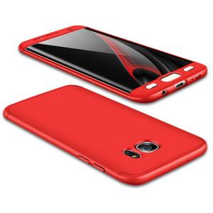 Θήκη GKK Full body Protection 360° από σκληρό πλαστικό για Samsung Galaxy S7 Edge κόκκινο