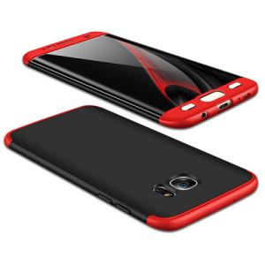 Θήκη GKK Full body Protection 360° από σκληρό πλαστικό για Samsung Galaxy S7 Edge μαύρο / κόκκινο