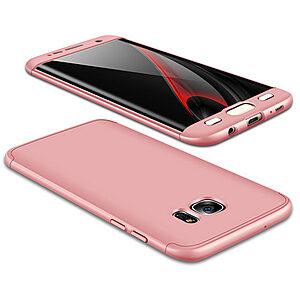 Θήκη GKK Full body Protection 360° από σκληρό πλαστικό για Samsung Galaxy S7 Edge ροζ χρυσό