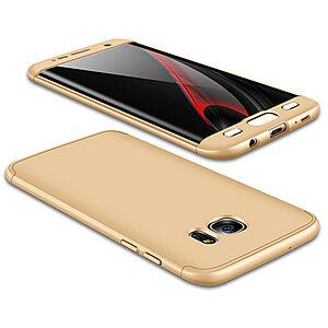 Θήκη GKK Full body Protection 360° από σκληρό πλαστικό για Samsung Galaxy S7 Edge χρυσό