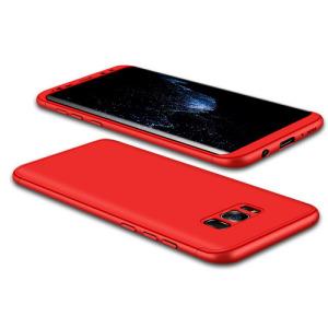 Θήκη GKK Full body Protection 360° από σκληρό πλαστικό για Samsung Galaxy S8 κόκκινο