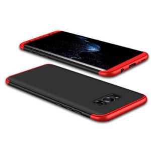 Θήκη GKK Full body Protection 360° από σκληρό πλαστικό για Samsung Galaxy S8 μαύρο / κόκκινο
