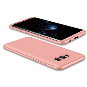 Θήκη GKK Full body Protection 360° από σκληρό πλαστικό για Samsung Galaxy S8 Plus ροζ χρυσό