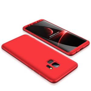 Θήκη GKK Full body Protection 360° από σκληρό πλαστικό για Samsung Galaxy S9 κόκκινο