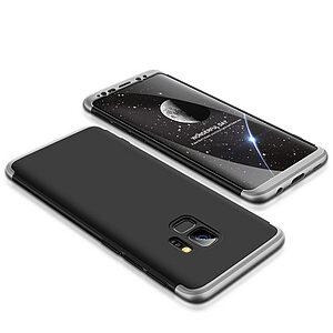 Θήκη GKK Full body Protection 360° από σκληρό πλαστικό για Samsung Galaxy S9 μαύρο / ασημί