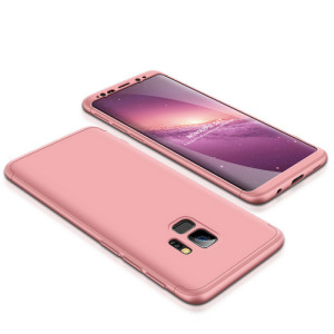 Θήκη GKK Full body Protection 360° από σκληρό πλαστικό για Samsung Galaxy S9 ροζ χρυσό
