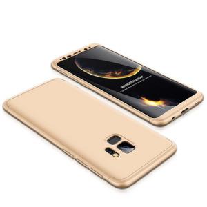 Θήκη GKK Full body Protection 360° από σκληρό πλαστικό για Samsung Galaxy S9 χρυσό