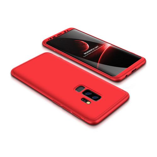 Θήκη GKK Full body Protection 360° από σκληρό πλαστικό για Samsung Galaxy S9 Plus κόκκινο