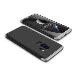 Θήκη GKK Full body Protection 360° από σκληρό πλαστικό για Samsung Galaxy S9 Plus μαύρο / ασημί