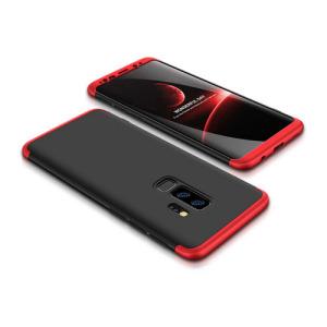 Θήκη GKK Full body Protection 360° από σκληρό πλαστικό για Samsung Galaxy S9 Plus μαύρο / κόκκινο