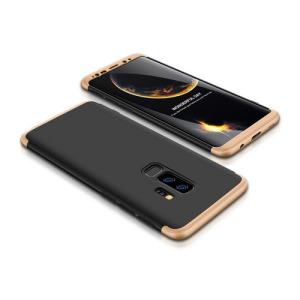 Θήκη GKK Full body Protection 360° από σκληρό πλαστικό για Samsung Galaxy S9 Plus μαύρο / χρυσό