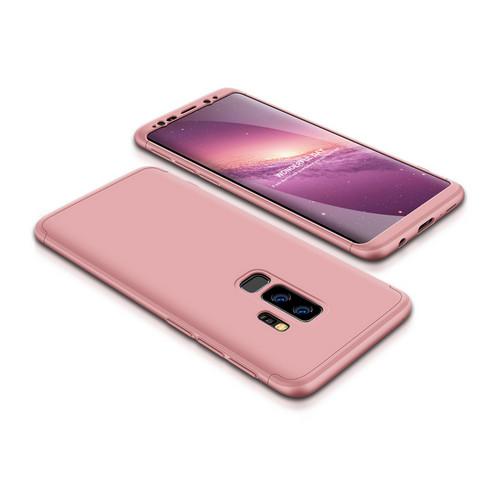 Θήκη GKK Full body Protection 360° από σκληρό πλαστικό για Samsung Galaxy S9 Plus ροζ χρυσό