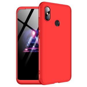 Θήκη GKK Full body Protection 360° από σκληρό πλαστικό για Xiaomi Mi 8 κόκκινο