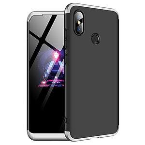 Θήκη GKK Full body Protection 360° από σκληρό πλαστικό για Xiaomi Mi 8 μαύρο / ασημί