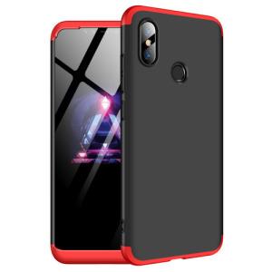 Θήκη GKK Full body Protection 360° από σκληρό πλαστικό για Xiaomi Mi 8 μαύρο / κόκκινο