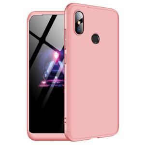 Θήκη GKK Full body Protection 360° από σκληρό πλαστικό για Xiaomi Mi 8 ροζ χρυσό