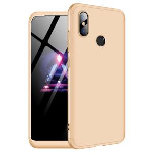 Θήκη GKK Full body Protection 360° από σκληρό πλαστικό για Xiaomi Mi 8 χρυσό