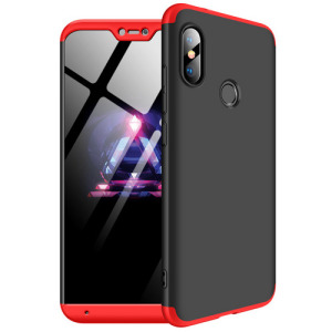 Θήκη GKK Full body Protection 360° από σκληρό πλαστικό για Xiaomi Mi A2 Lite (Redmi 6 Pro) / κόκκινο
