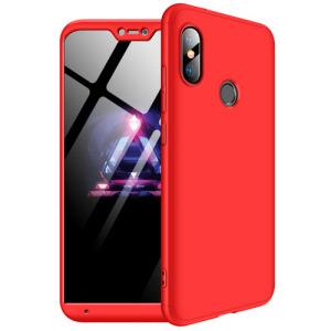 Θήκη GKK Full body Protection 360° από σκληρό πλαστικό για Xiaomi Mi A2 Lite (Redmi 6 Pro) κόκκινο