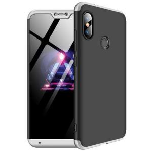 Θήκη GKK Full body Protection 360° από σκληρό πλαστικό για Xiaomi Mi A2 Lite (Redmi 6 Pro) μαύρο / ασημί