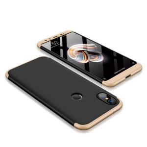 Θήκη GKK Full body Protection 360° από σκληρό πλαστικό για Xiaomi Mi A2 (Mi 6X) μαύρο / χρυσό