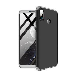 Θήκη GKK Full body Protection 360° από σκληρό πλαστικό για Xiaomi Mi Max 3 μαύρο / ασημί