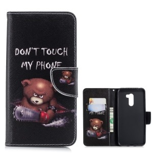 Θήκη Xiaomi Pocophone F1 OEM σχέδιο Angry bear with chainsaw με βάση στήριξης