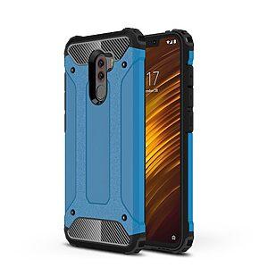 Θήκη Xiaomi Pocophone F1 OEM Armor Guard Hybrid πλάτη TPU γαλάζιο