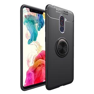 Θήκη Xiaomi Pocophone F1 OEM Magnetic Ring Kickstand πλάτη TPU μαύρο