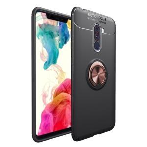 Θήκη Xiaomi Pocophone F1 OEM Magnetic Ring Kickstand πλάτη TPU ροζ