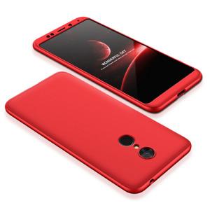 Θήκη GKK Full body Protection 360° από σκληρό πλαστικό για Xiaomi Redmi 5 κόκκινο