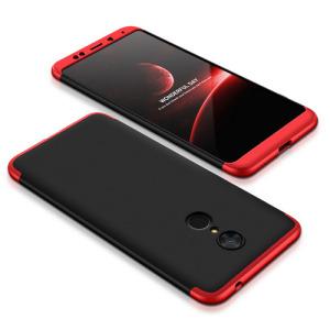 Θήκη GKK Full body Protection 360° από σκληρό πλαστικό για Xiaomi Redmi 5 μαύρο / κόκκινο