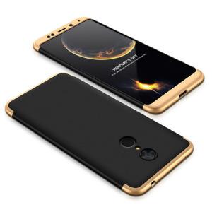 Θήκη GKK Full body Protection 360° από σκληρό πλαστικό για Xiaomi Redmi 5 μαύρο / χρυσό