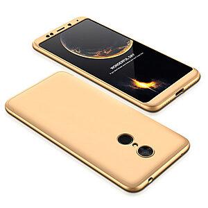 Θήκη GKK Full body Protection 360° από σκληρό πλαστικό για Xiaomi Redmi 5 χρυσό