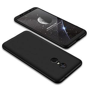 Θήκη GKK Full body Protection 360° από σκληρό πλαστικό για Xiaomi Redmi 5 Plus μαύρο