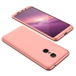 Θήκη GKK Full body Protection 360° από σκληρό πλαστικό για Xiaomi Redmi 5 Plus ροζ χρυσό