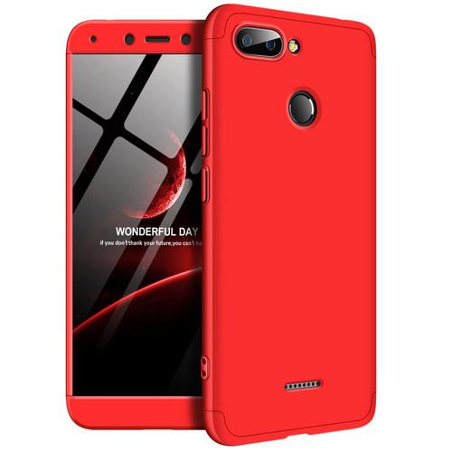 Θήκη GKK Full body Protection 360° από σκληρό πλαστικό για Xiaomi Redmi 6 κόκκινο