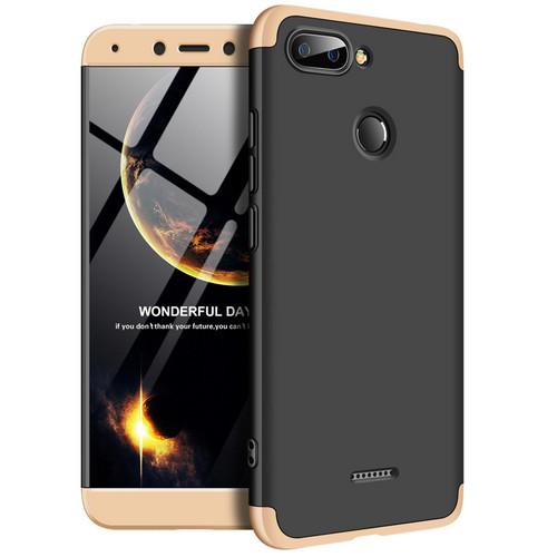 Θήκη GKK Full body Protection 360° από σκληρό πλαστικό για Xiaomi Redmi 6 μαύρο / χρυσό